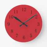 Fire Engine Red Kitchen Wall Clock