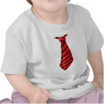 Fire engine red striped tie tees