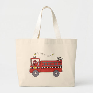 Fire Engine Tote Bag