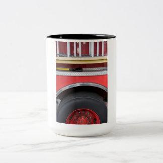 Fire Engine Wheel Two-Tone Coffee Mug