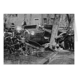 Fire Engine Wreck, 1922 Card