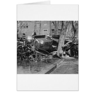 Fire Engine Wreck, 1922 Greeting Card