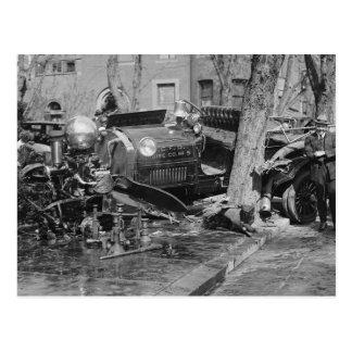 Fire Engine Wreck, 1922 Postcard
