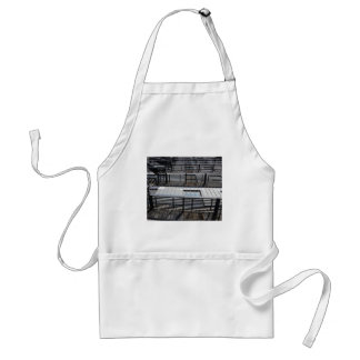 Fire Escape And Shadows Adult Apron
