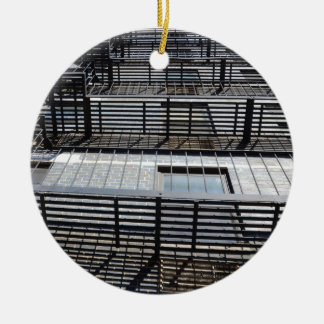 Fire Escape And Shadows Ornaments