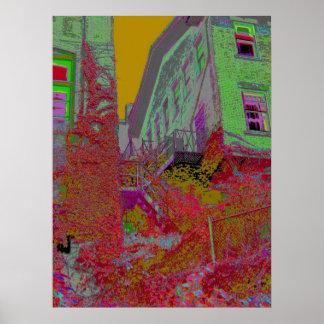 Fire Escape in Living Color #2 Poster
