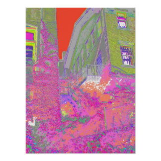 Fire Escape in Living Color Poster