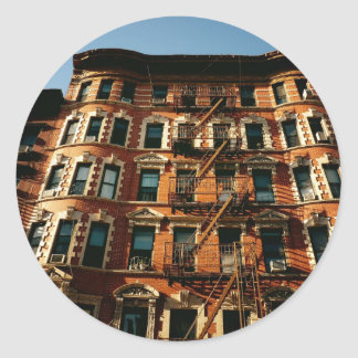 Fire Escapes and Brick Round Stickers