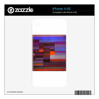 Fire evening by Paul Klee Decals For iPhone 4S