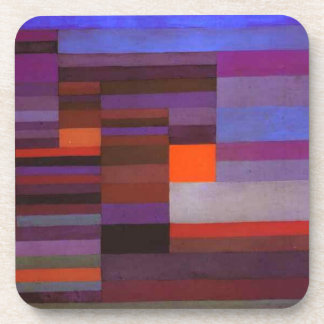 Fire evening by Paul Klee Drink Coaster