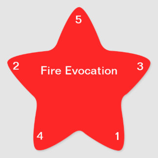 Fire Evocation Star Sticker