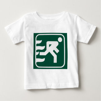 Fire Exit Sign Baby T-Shirt