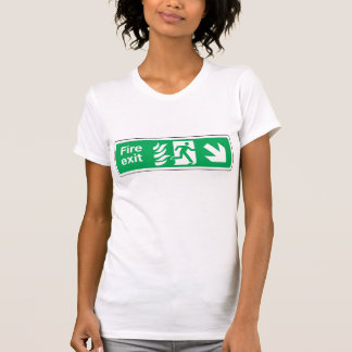 Fire Exit Womens T-Shirt