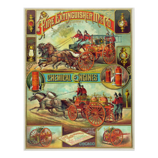 Fire Extinguisher Ad 1880 Poster