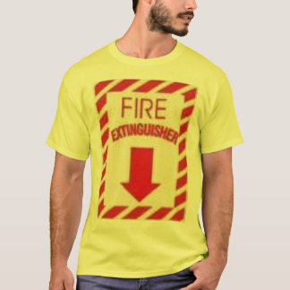 fire extinguisher - Customized T-Shirt