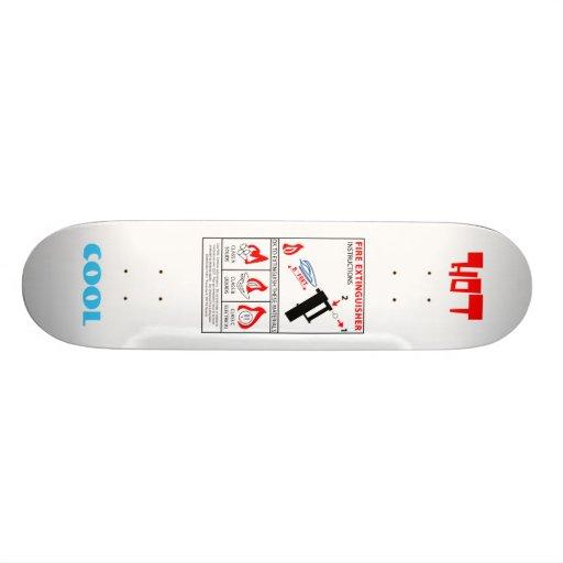 Fire Extinguisher, HOT, COOL Skateboard deck