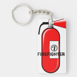 Fire Extinguisher No.1 Best Firefighter Keychain