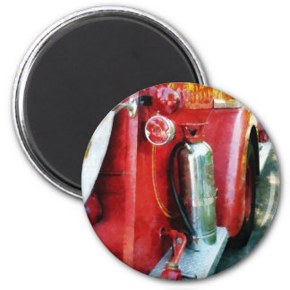 Fire Extinguisher on Fire Truck 2 Inch Round Magnet