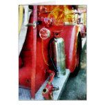 Fire Extinguisher on Fire Truck Greeting Cards