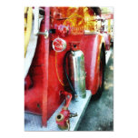 Fire Extinguisher on Fire Truck 5x7 Paper Invitation Card