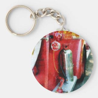 Fire Extinguisher on Fire Truck Keychain