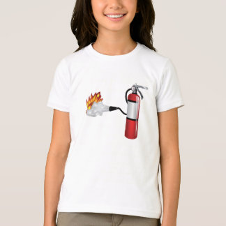 Fire Extinguisher Putting Out Fire Girls T-Shirt
