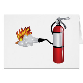 Fire Extinguisher Putting Out Fire Greeting Cards Greeting Card