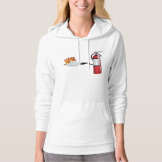 Fire Extinguisher Putting Out Fire Womens Hoodie