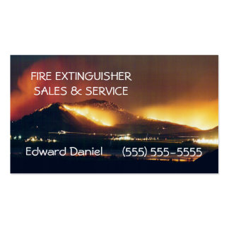 Fire-Extinguisher Sales Double-Sided Standard Business Cards (Pack Of 100)