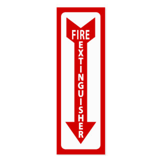 fire extinguisher sign business card template