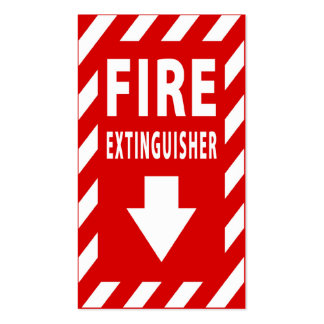 fire extinguisher sign Double-Sided standard business cards (Pack of 100)