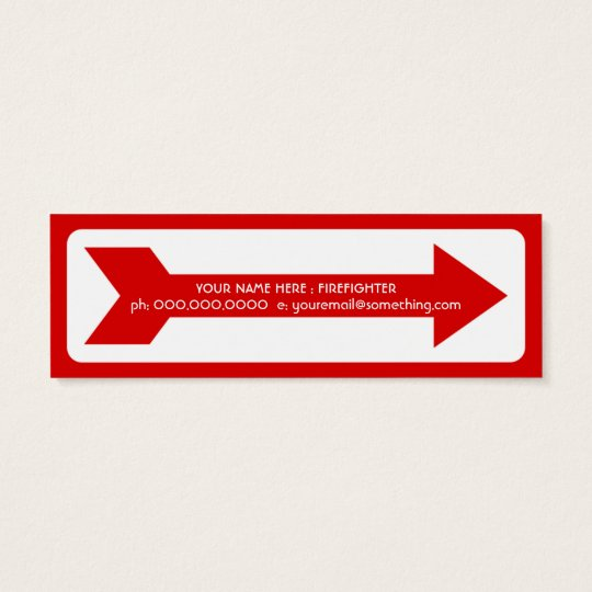 fire extinguisher sign mini business card