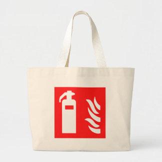Fire Extinguisher Symbol Large Tote Bag
