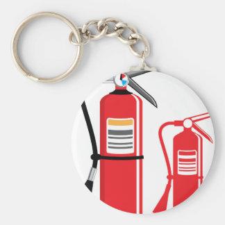 Fire extinguisher Vector Keychain