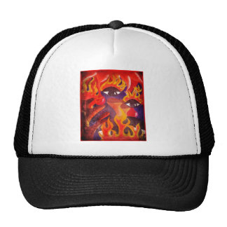 Fire, Eyes, Blood Abstract Image! Trucker Hat