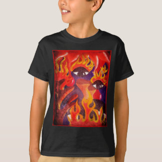 Fire, Eyes, Blood Abstract Image! T-Shirt