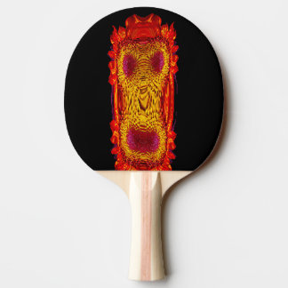Fire Face Monkey Ping Pong Paddle