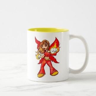 Fire Faerie Two-Tone Coffee Mug