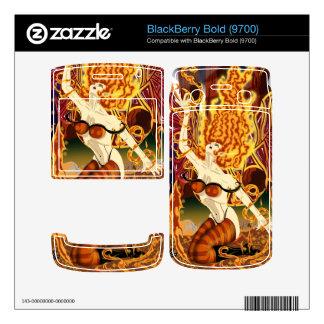 Fire Fairy Close-Up BlackBerry Bold 9700 Vinyl Ski BlackBerry Bold Decals