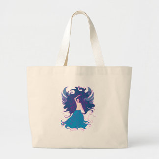 Fire fairy large tote bag