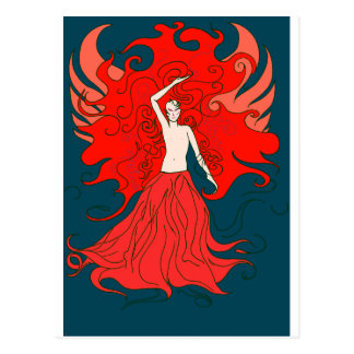Fire Fairy (Red) Postcard