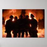 Fire Family Firefighter Poster