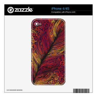 Fire Feather Skins For The iPhone 4S