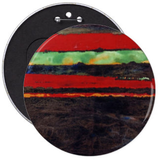 """'Fire Fight"" Abstract Art Button"