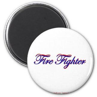 Fire Fighter 2 Inch Round Magnet