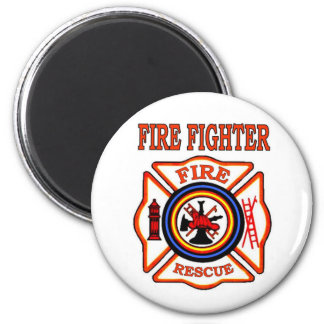 FIRE FIGHTER 2 INCH ROUND MAGNET