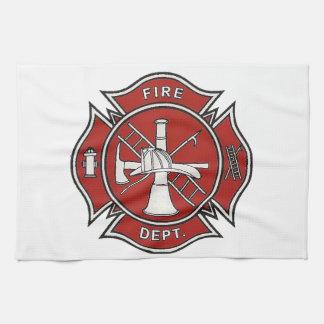 Fire Fighter Badge Hand Towel