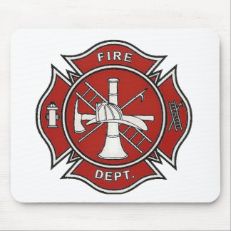 Fire Fighter Badge Mouse Pad
