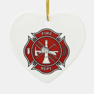 Fire Fighter Badge Ornaments
