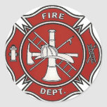 Fire Fighter Badge Sticker